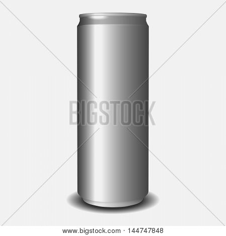 Blank aluminium can. Vector illustration. mockup of aluminum can.