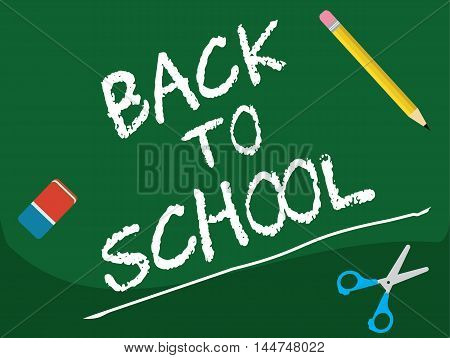 Back To School - Board Illustration Vector