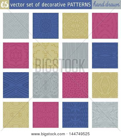 Seamless Patterns backgrounds. Ideal for printing onto fabric and paper or scrap booking. Vector illustration