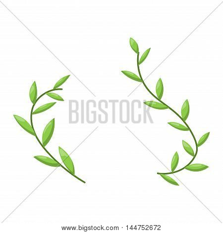 Flower icon nature plant isolated on white. Flower icon abstract blossom design flat decorative beautiful plant. Flower top view