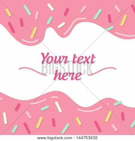 Simple geometrical picture with text sample small sprinkles and shadows. Graphic lines