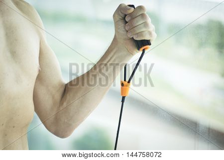 Man Exercising Nude Torso