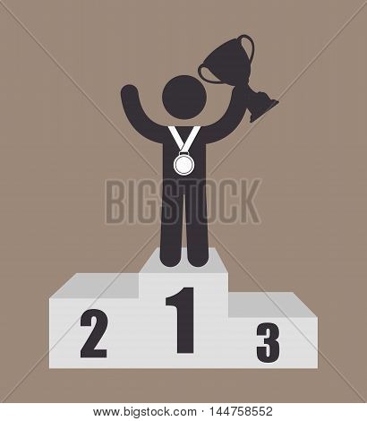 championship podium numbers  icon vector illustration design eps10