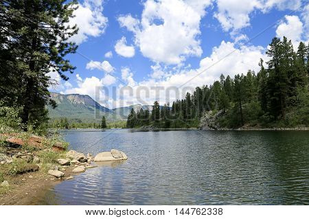 Summer at Electra Lake in Durango, CO
