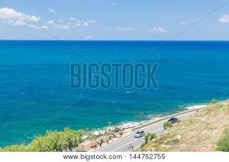 Coastal Road In Mountain Landscape
