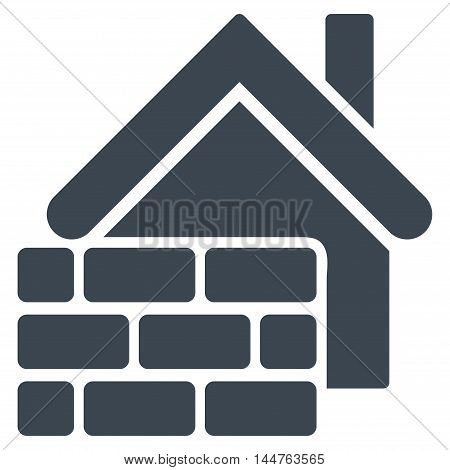 Realty Brick Wall icon. Vector style is flat iconic symbol, smooth blue-grey color, white background.