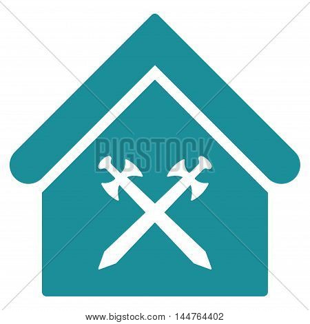 Guard Office icon. Vector style is flat iconic symbol, soft blue color, white background.