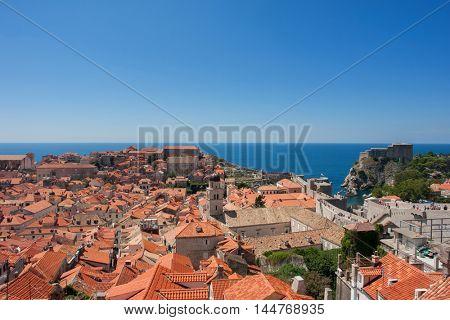 Rooftops of Old Town, Dubrovnik, Croatia