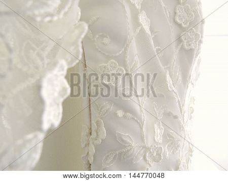 Bridal french lace dress for wedding day