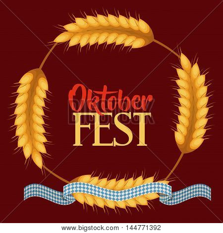 oktober fest invitation poster vector illustration design