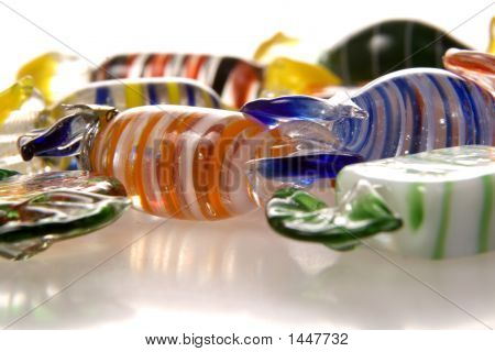 Glass Candies From Side