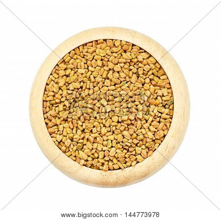 fenugreek seeds isolated on white background save clipping path.