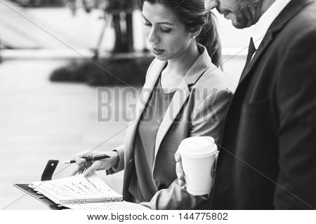 Business Corporate Partnership Office Worker Concept