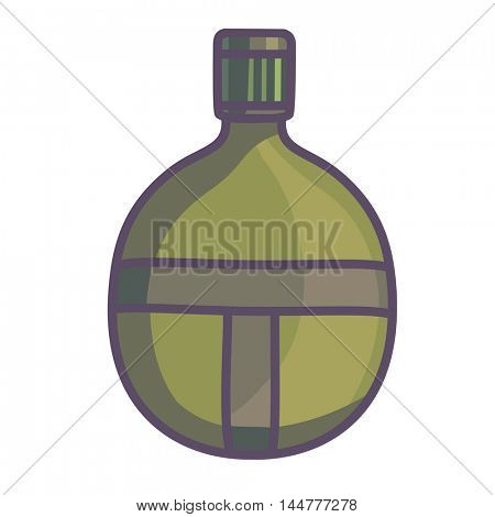 Hip flask icon. Men drinking accessory. Isolated vector illustration