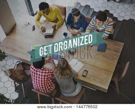 Organized Ideas Management Productivity Concept