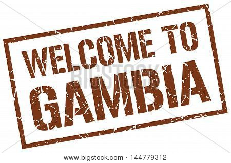 welcome to Gambia. stamp. grunge square sign