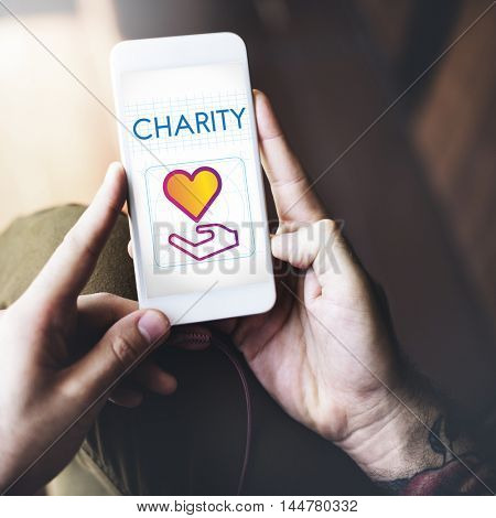 Community Share Charity Donation Concept