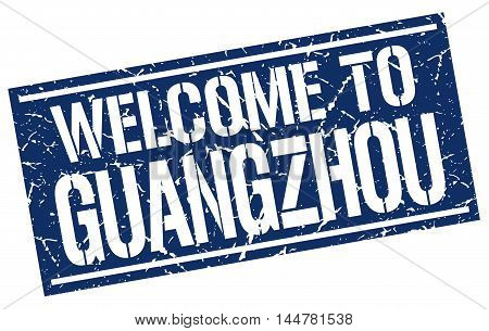 welcome to Guangzhou. stamp. grunge square sign