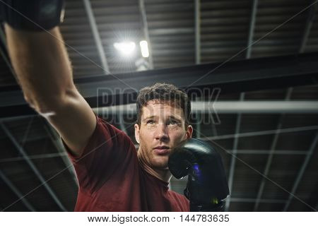 Boxing Challenge Exercise Sport Workout Practice Concept