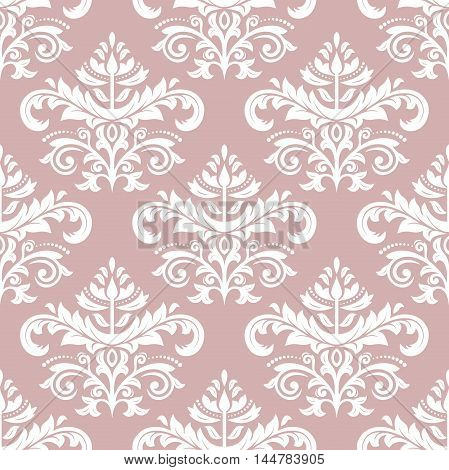Oriental classic pattern. Seamless abstract background with repeating elements. Purple and white orient pattern