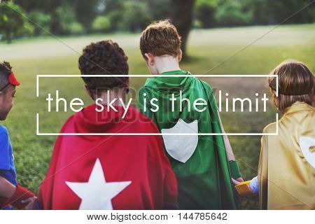 The Sky is the Limit Freedom Inspire Motivation Concept