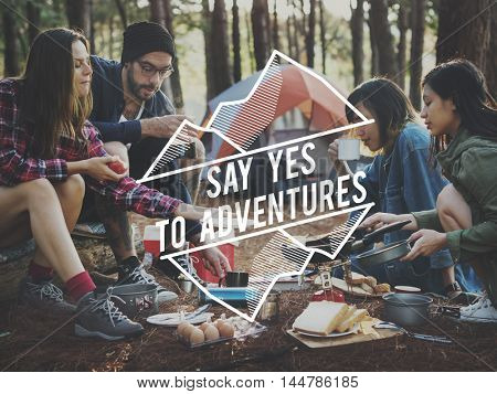 Camping Adventure Trekking Nature Relaxation Concept