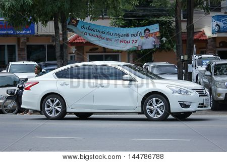 CHIANGMAI THAILAND -AUGUST 9 2016: Private car Nissan Teana. On road no.1001 8 km from Chiangmai Business Area.