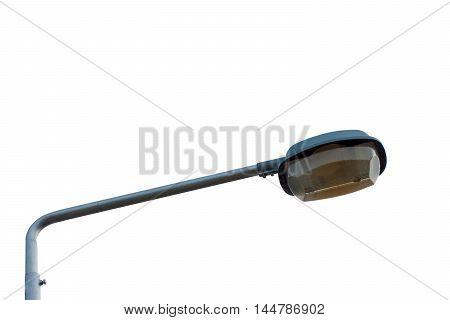 isolated lamp post closeup on white background