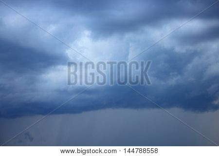 blue sky with cloud. raincloud motion beautiful in nature