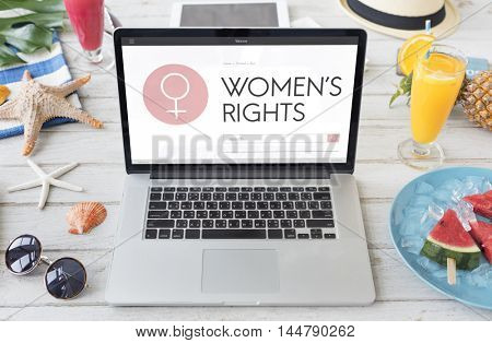 Women Rights Female Woman Girl Lady Feminism Concept