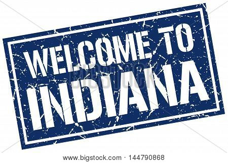welcome to Indiana. stamp. grunge square sign