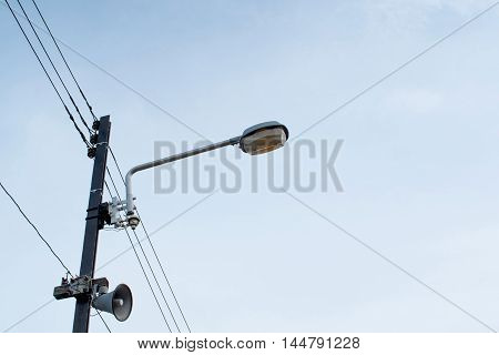 lamp post on the sky in background
