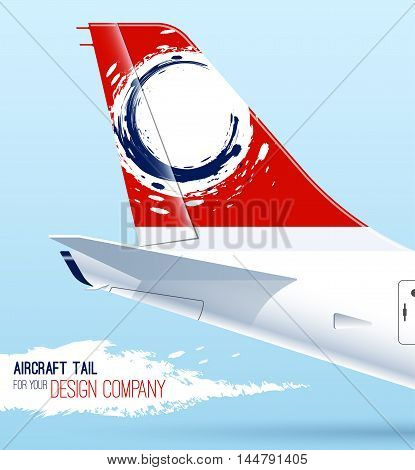 Airplane tail. template for your design. Aircraft tail