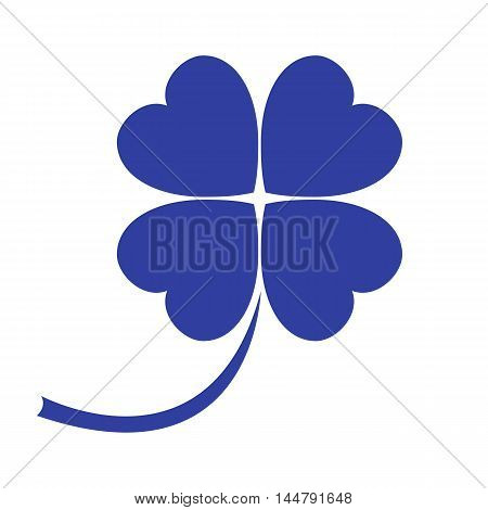 Stylized icon of a colored clover leave on a white background, vector