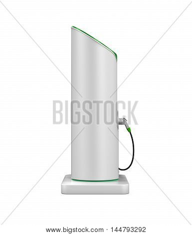 Electric Vehicle Charging Station isolated on white background. 3D render