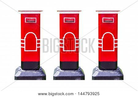 Postbox isolated white background apply design and background.