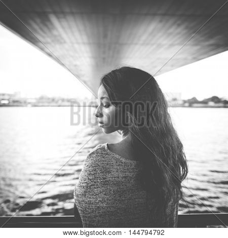 African American River Attractive Candid Concept