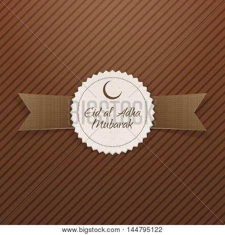 Eid al-Adha Mubarak realistic Tag. Vector Illustration