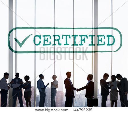 Certified Result Status Approve Decision Graphic Concept