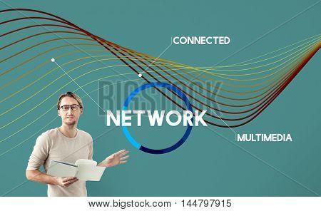 Network Communication Connection Web concept