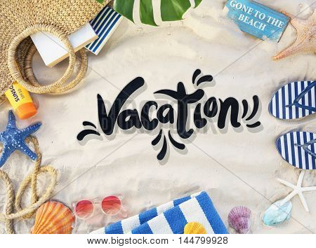 Beach Vocation Enjoy Holidays Summer Concept
