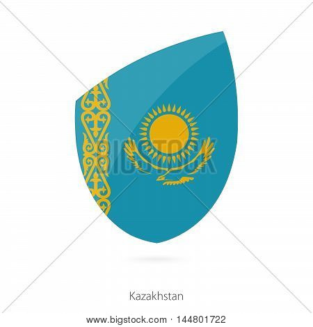Flag of Kazakhstan in the style of Rugby icon. Vector Illustration.