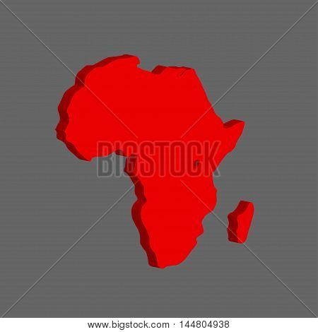 The African continent. Vector illustration on gray background