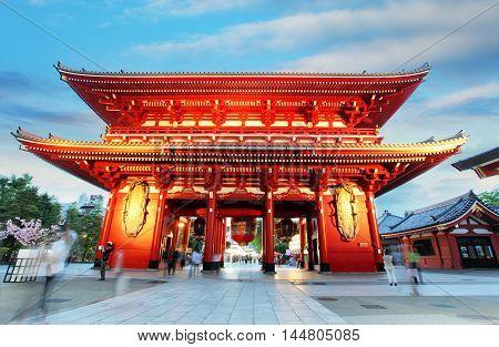 Asakusa temple with pagoda Tokyo in Japan