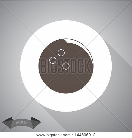Bowling ball sport vector icon for web and mobile