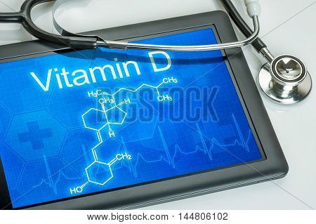 Tablet With The Chemical Formula Of Vitamin D