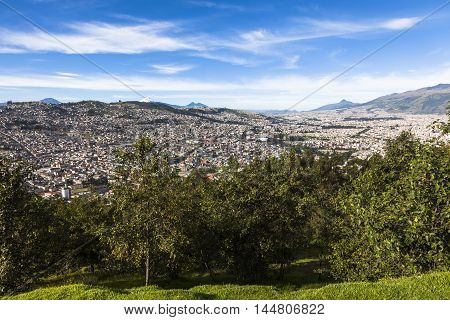 Southern part of the city of Quito