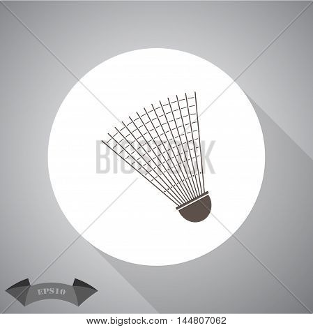 Badminton Shuttlecock sport vector icon for web and mobile