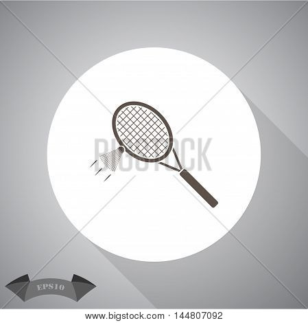 The badminton sport vector icon for web and mobile