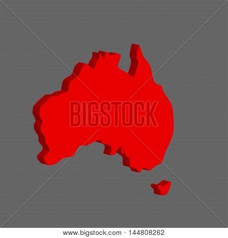 Australian continent. Vector illustration on gray background